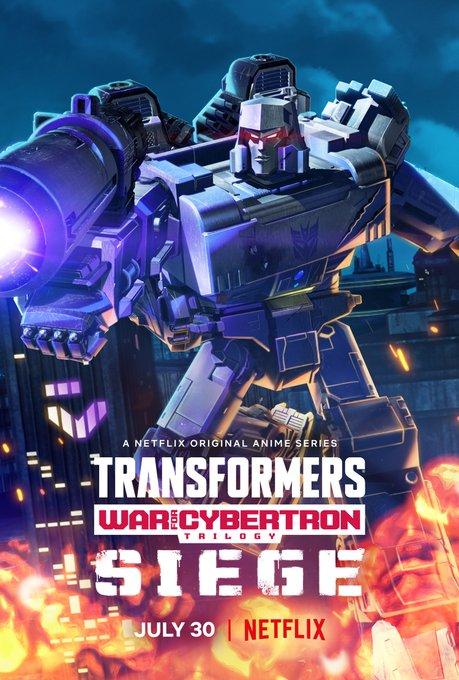 Megatron em 'Transformers | War for Cybertron: O Cerco', da Netflix.
