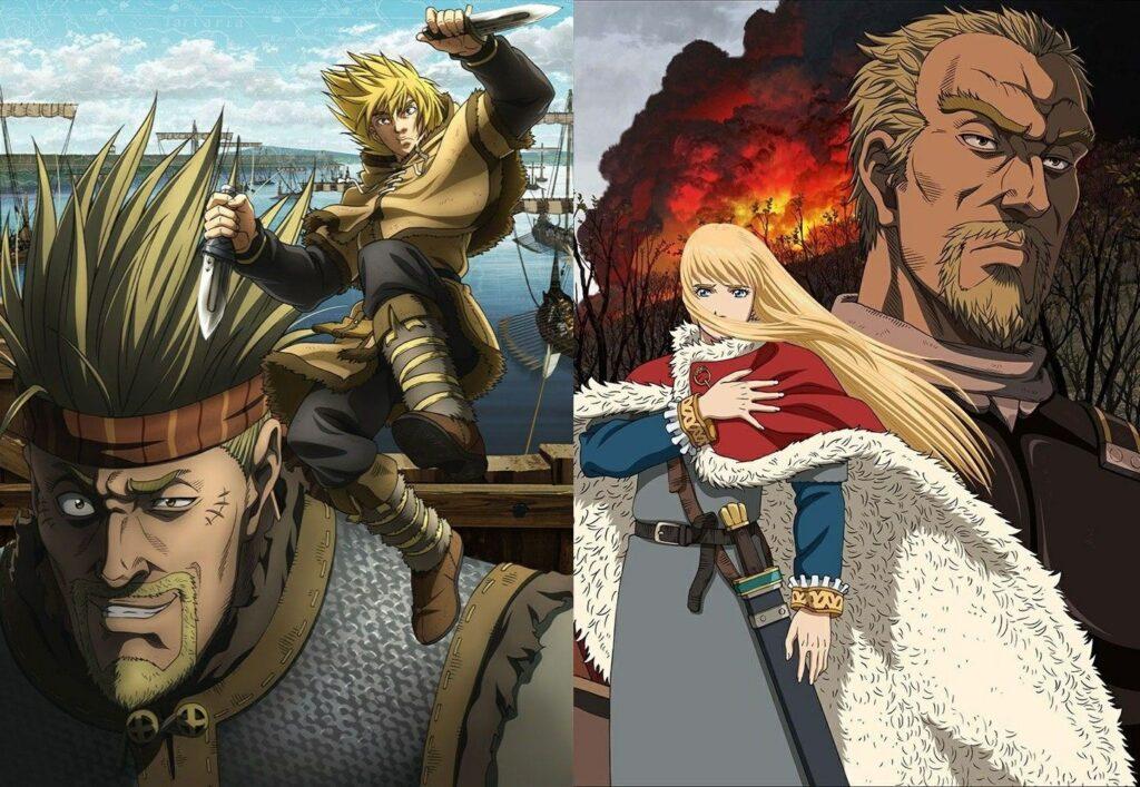 Protagonistas de Vinland Saga.