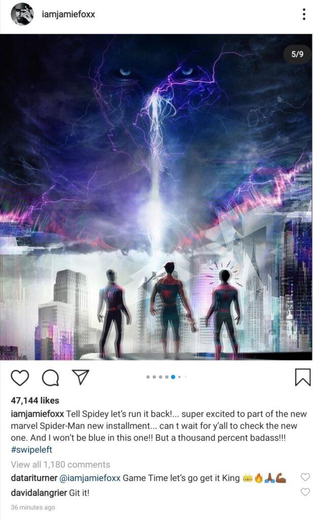 Jamie-Foxx-Instagram-post-Aranhaverso-Spiderverse